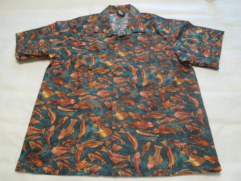 Men's Atlantis Green Hawaiian shirt 10% off sale!
