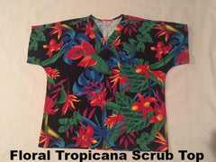 Hawaiian Scrub Tops