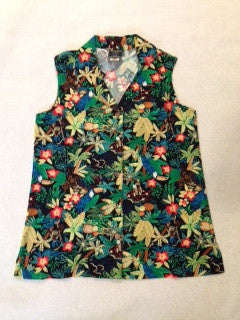 Women's Sleeveless Tropical Palm Hawaiian shirt
