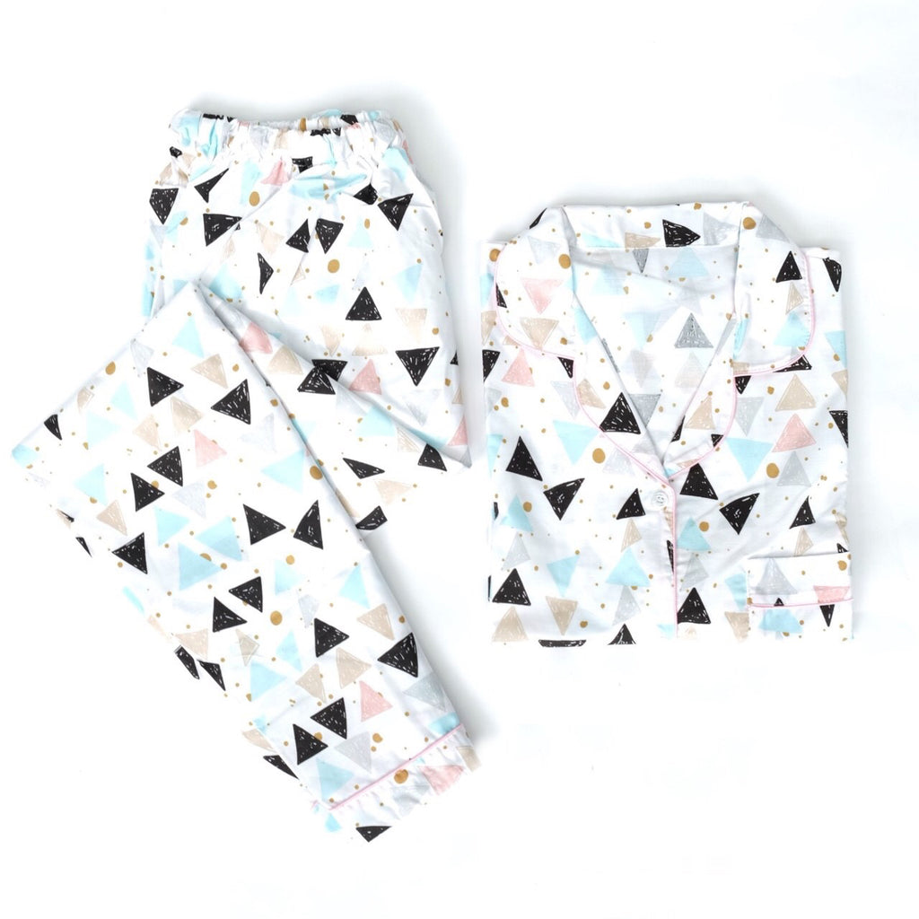 Triangle Long Pants Set