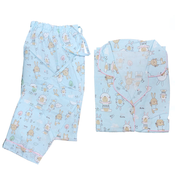 Bunny Blue Long Pants Set