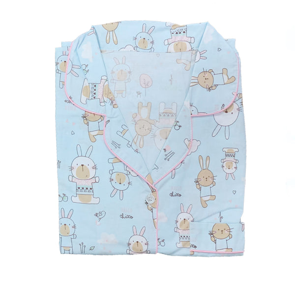 Bunny Blue Short Pants Set