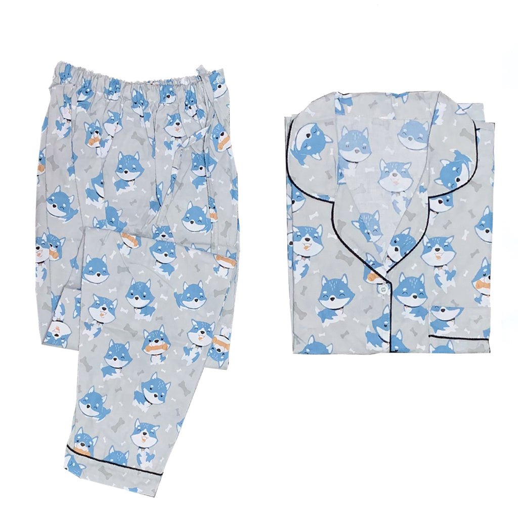 Doggies Grey Long Pants Set