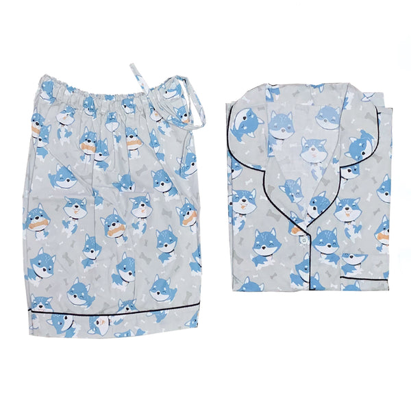 Doggies Grey Short Pants Set