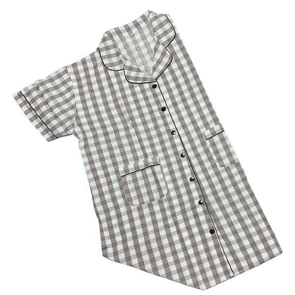 Grey Checkered Maternity