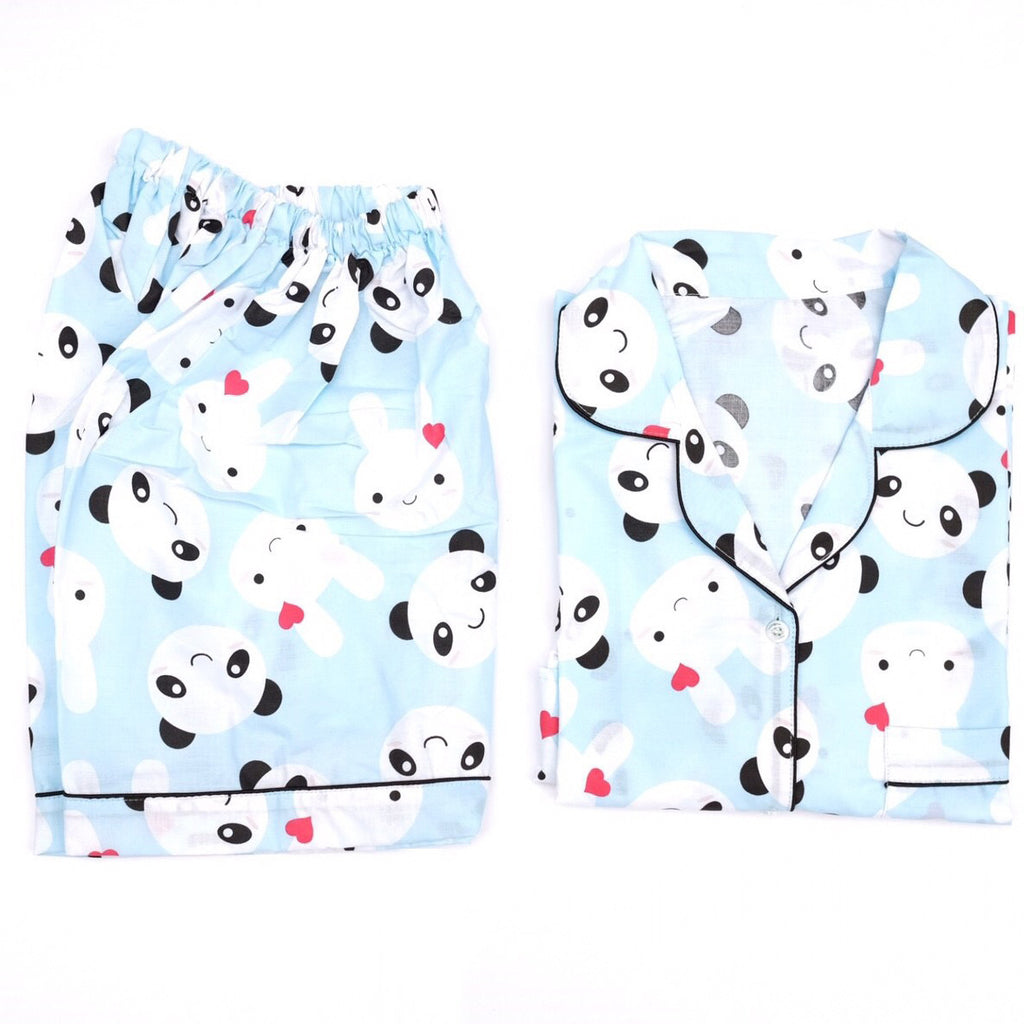 Panda Bunny Short Pants Set