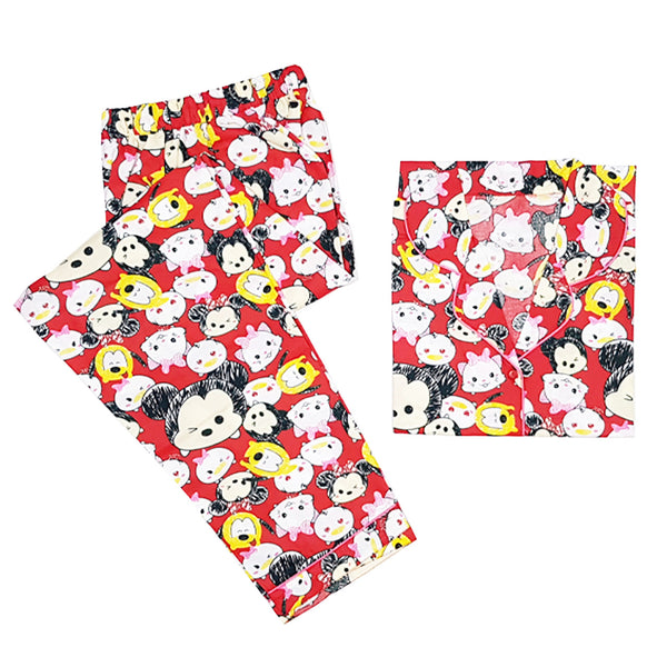 TsumTsum Red Long Pants Set