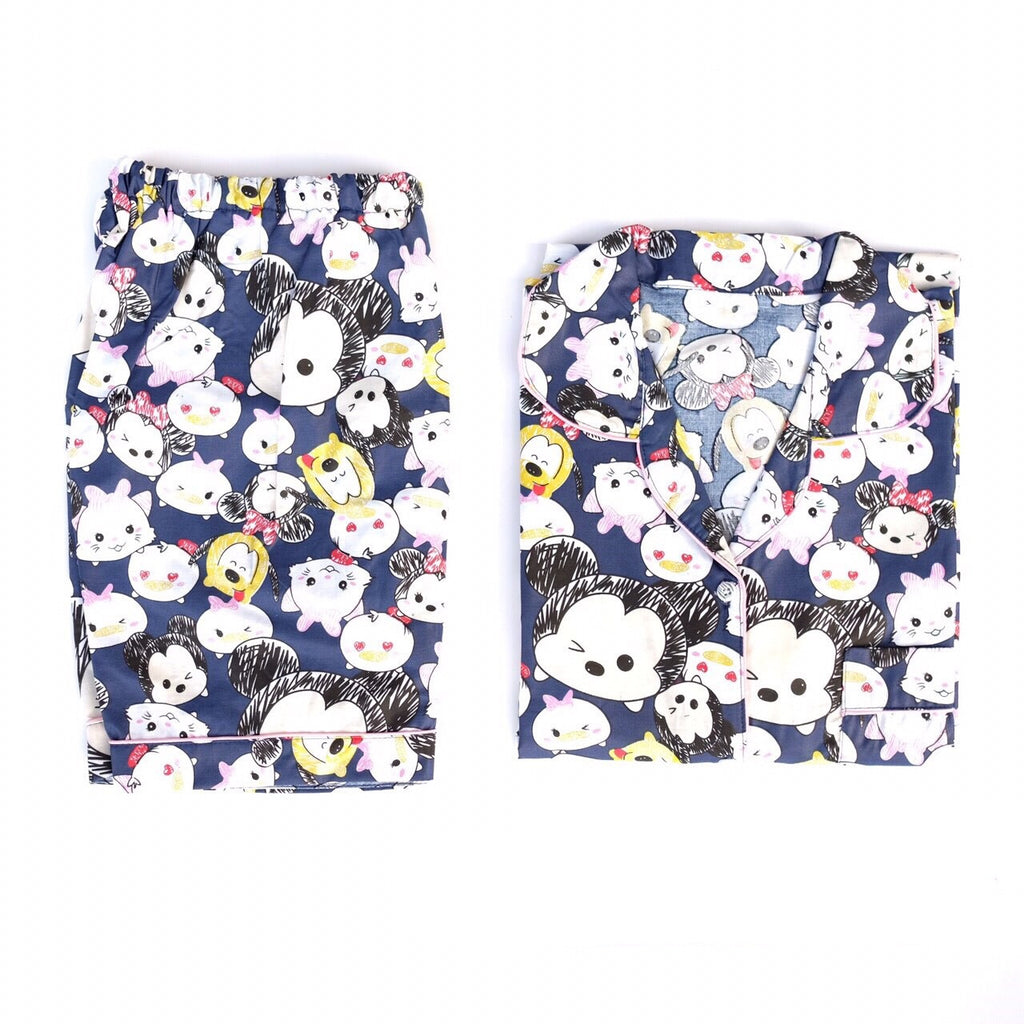 TsumTsum Navy Short Pants Set