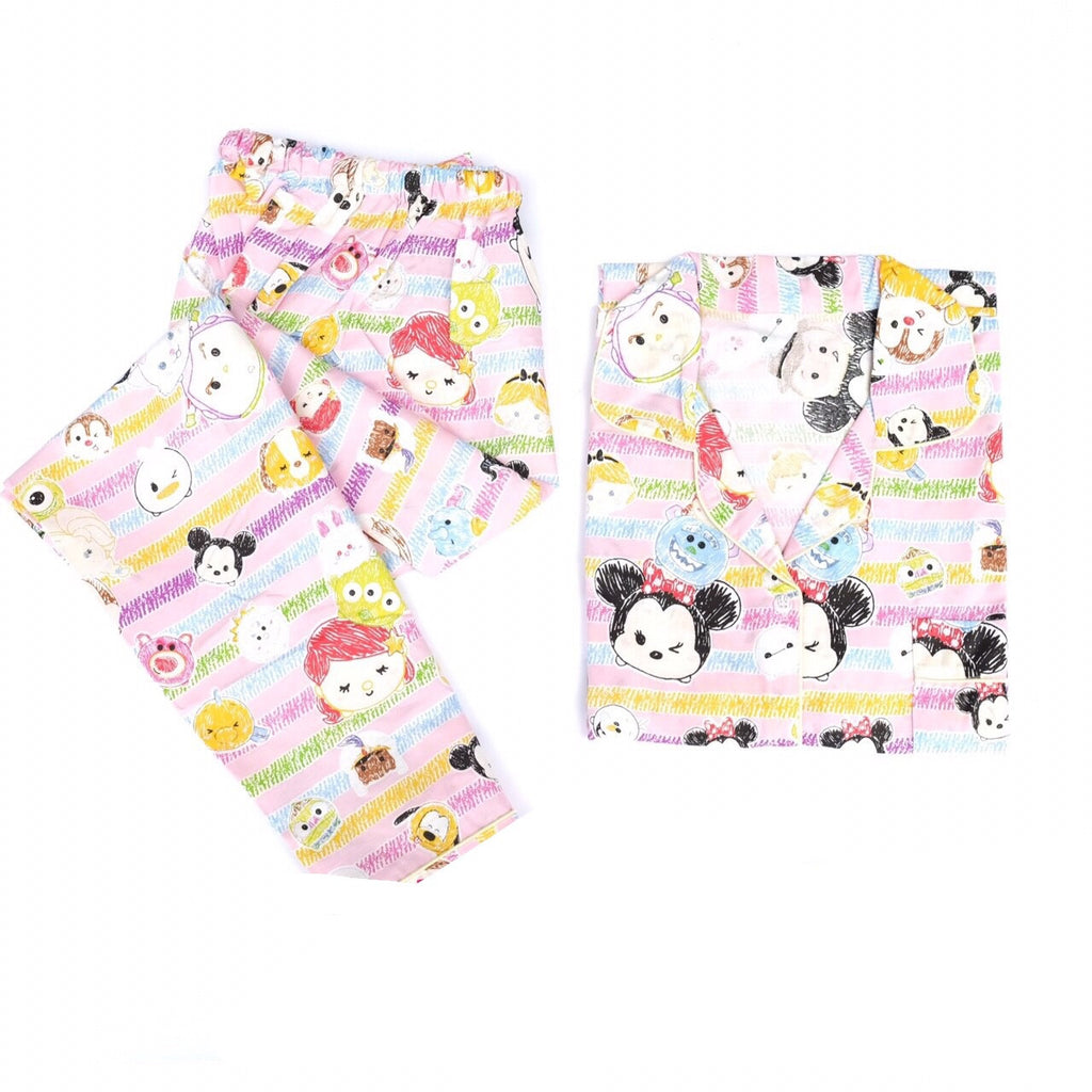 TsumTsum Rainbow Pink Long Pants Set