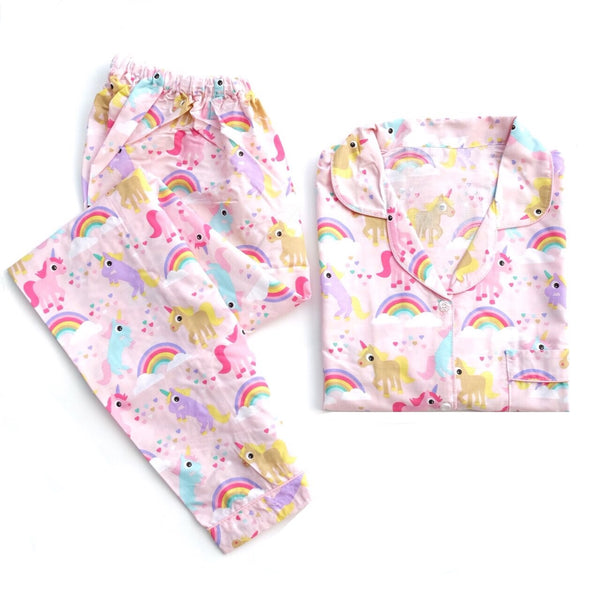 Unicorn Pink Long Pants Set