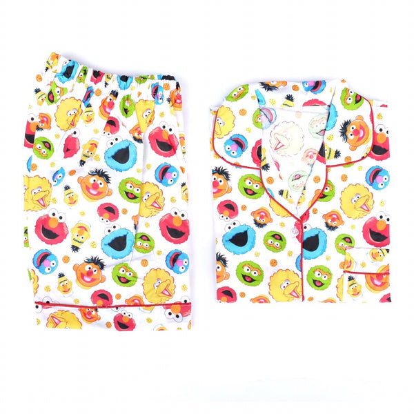 Elmo White Short Pants Set