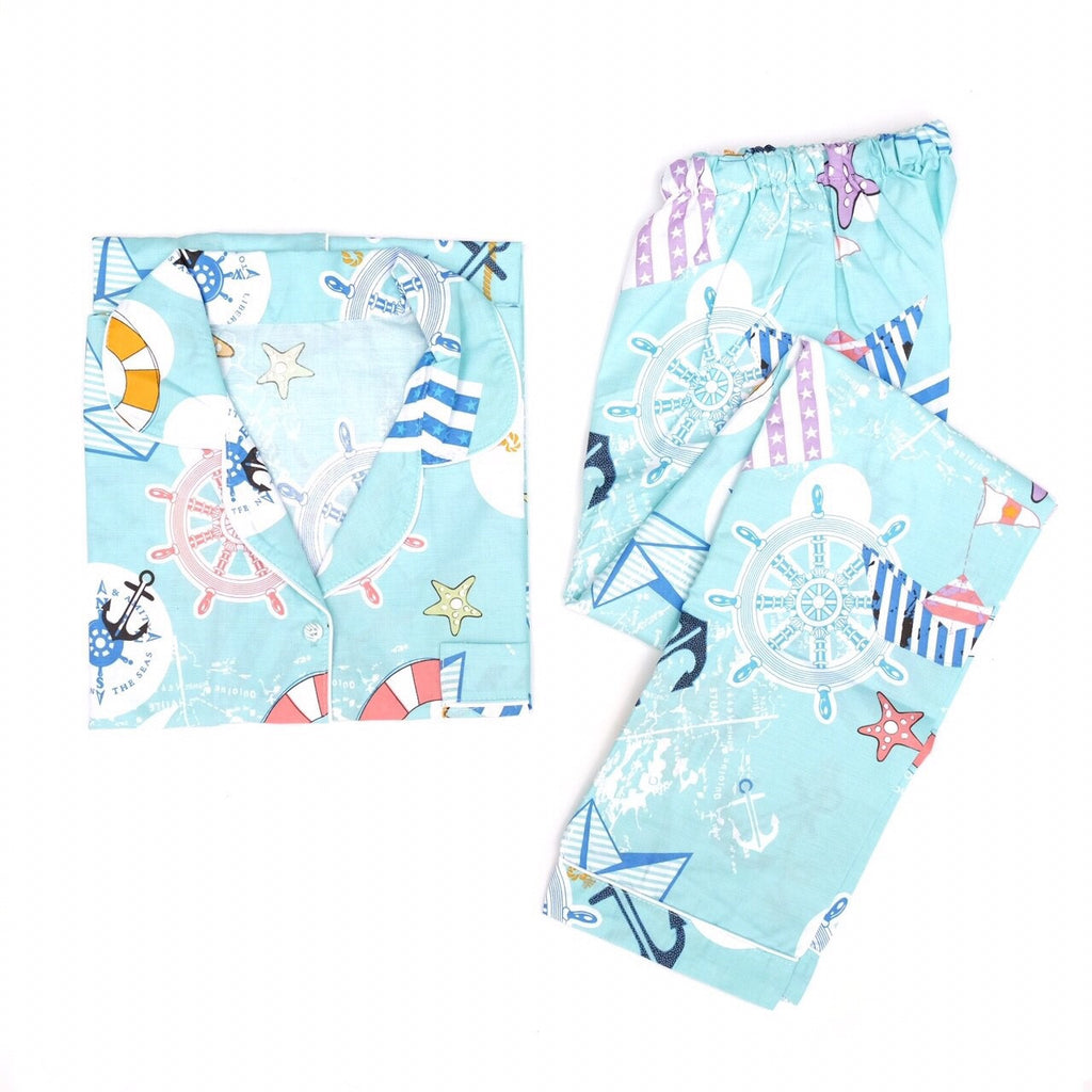 Sailor Long Pants Set