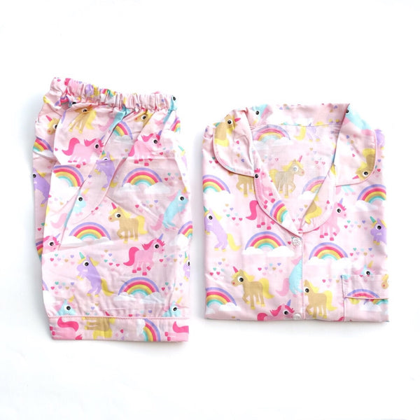 Unicorn Pink Short Pants Set