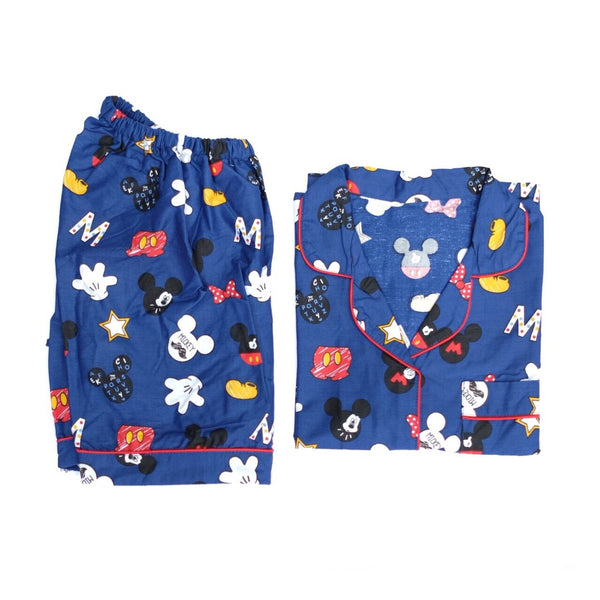 Blue Mickey Short Pants Set