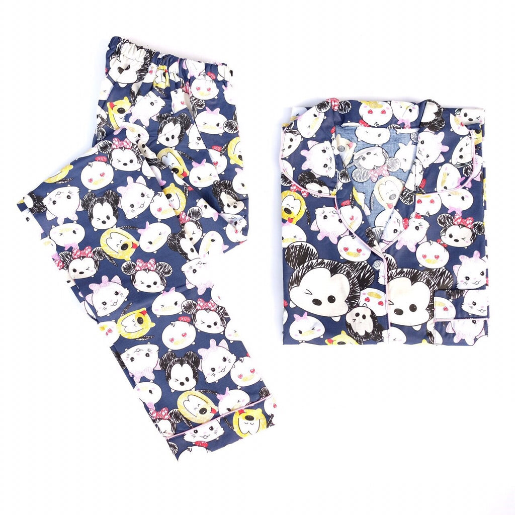 TsumTsum Navy Long Pants Set