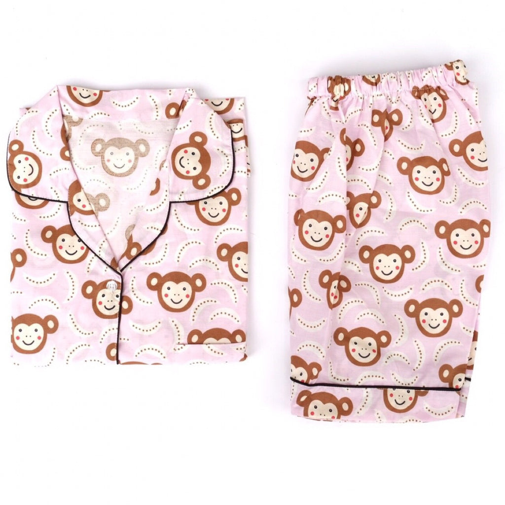 Monkey Pink Short Pants Set