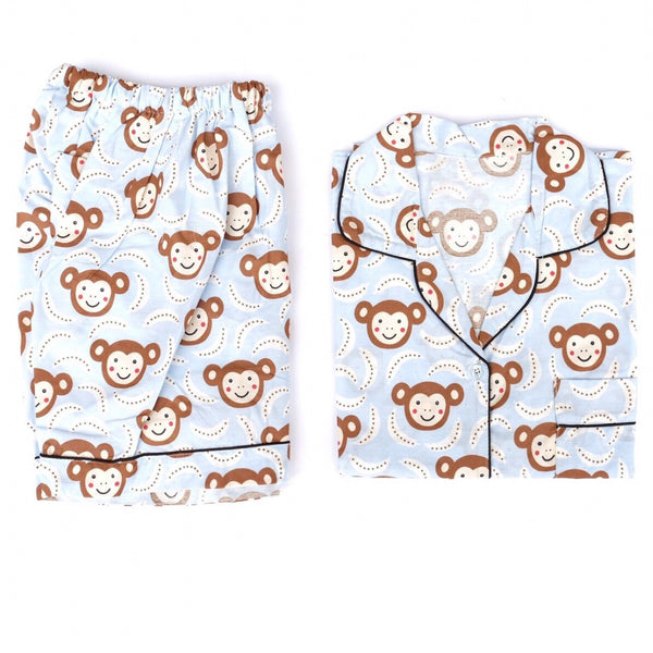 Monkey Blue Short Pants Set