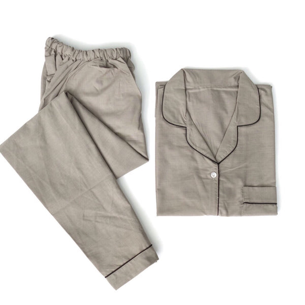 Plain Grey Long Pants Set