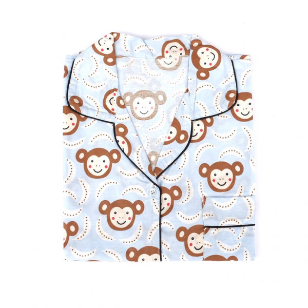 Monkey Blue Long Pants Set
