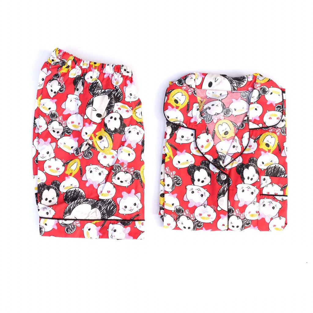 TsumTsum Red Short Pants Set