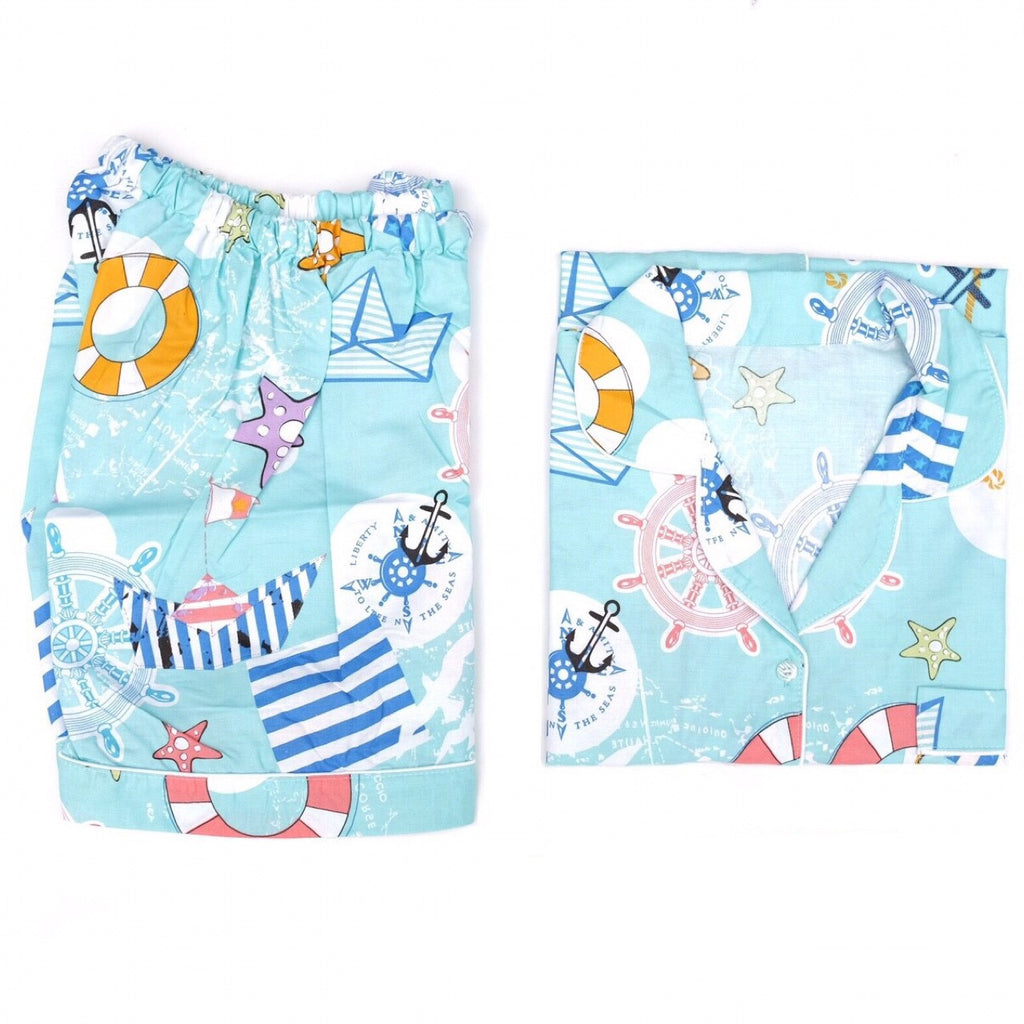 Sailor Short Pants Set
