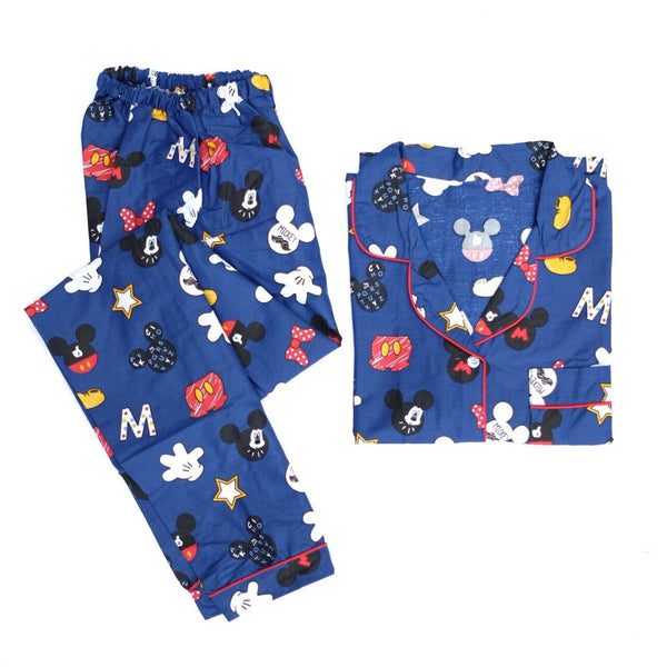 Blue Mickey Long Pants Set