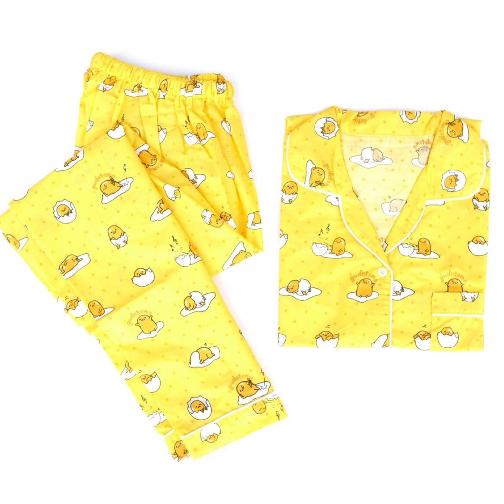 Gudetama Yellow Long Pants Set