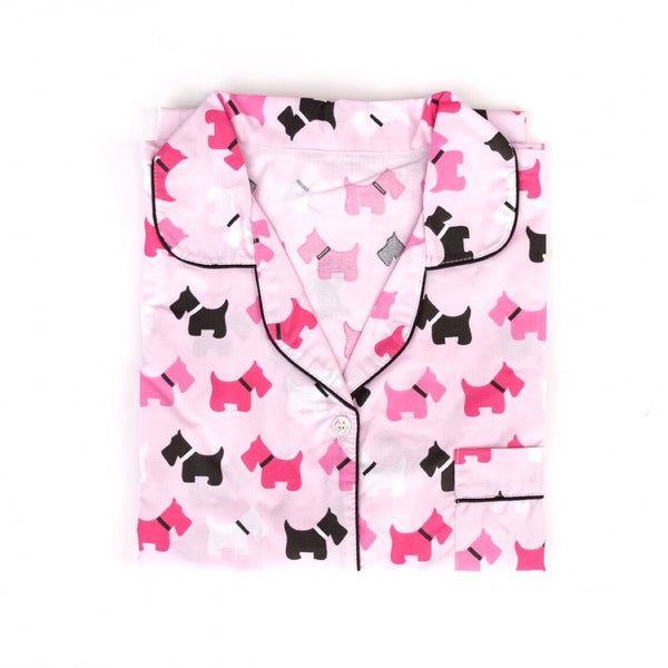 Terry Dog Long Pants Set