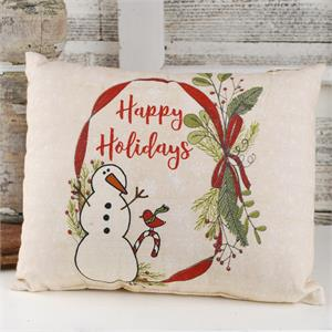 Happy Holidays' Snowman Pillow Home Decor