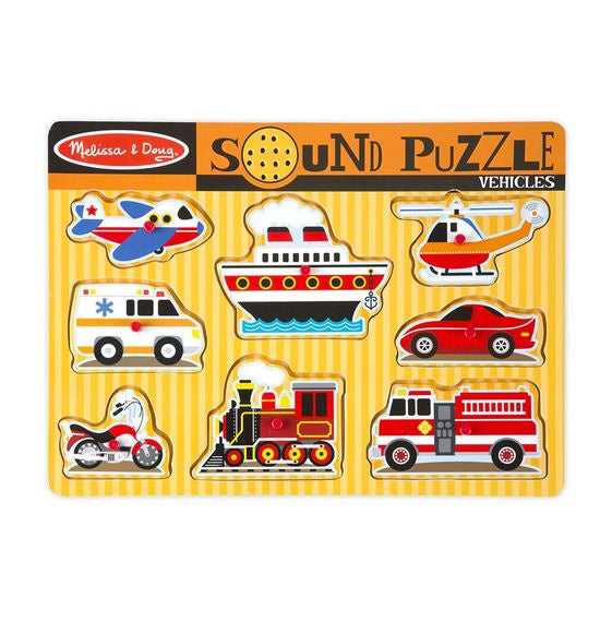 Vehicles Sound Puzzle - 8 Pieces  - Melissa & Doug