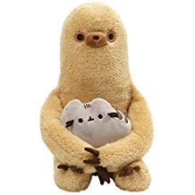 GUND Pusheen with Sloth Plush Stuffed Animal, Set of 2, Multicolor, 13""