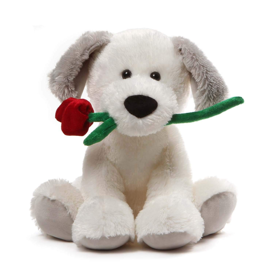 GUND Demarco Valentines Day Stuffed Animal Puppy Dog Plush, White, 10