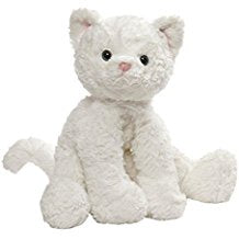 GUND Cozys Collection Cat Stuffed Animal Plush, White, 10""
