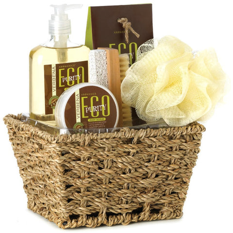 Bath And Kitchen Tagged Gift Basket Four Beans