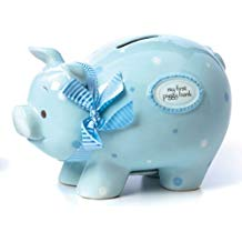Blue My First Piggy Bank LG