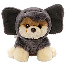 "GUND World's Cutest Dog Itty Bitty Boo #52 Elephant Plush 5"" Stuffed Animal, Gray"