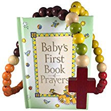 Baby Catholic Baptism Gift Set, Includes Baby's First Rosary and Baby's First Book of Prayers, Perfect Baptism, Christening, Shower Gifts
