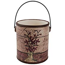 Purple Flower Ceramic Crock W/Handle Home décor