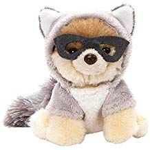 "Itty Bitty Boo #51 Raccoon Plush 5"" Stuffed Animal, Gray"