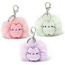 Gund Pusheen Pastel Poof Keychain\Backpack Clip, 4 inches Plush, 1 Random Color