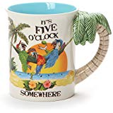 Margaritaville by Our Name Is Mud Palm Tree Stoneware Sculpted Mug, 16 oz, Multicolor