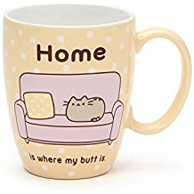 "Pusheen by Our Name is Mud ""Pusheen at Home"" Stoneware Coffee Mug, 12 oz."