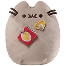 GUND Pusheen Snackables Potato Chip Cat Plush Stuffed Animal, Gray, 9.5
