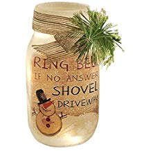 Shovel Driveway Lighted Glass Jar
