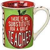 """Great Teacher"" Stoneware Coffee Mug, 16 oz"