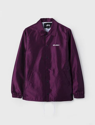 STUSSY LOGO COACH JACKET PURPLE