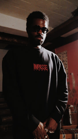 IMPASSE Oversized Raw Crewneck
