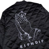 RIPNDIP PRAYING FOR NERMAL QUILTED REVERSIBLE JACKET