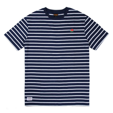 BUTTER GOODS ROSE STRIPED TEE (NAVY)