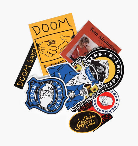 DOOM SAYERS CLUB STICKER PACK (10)